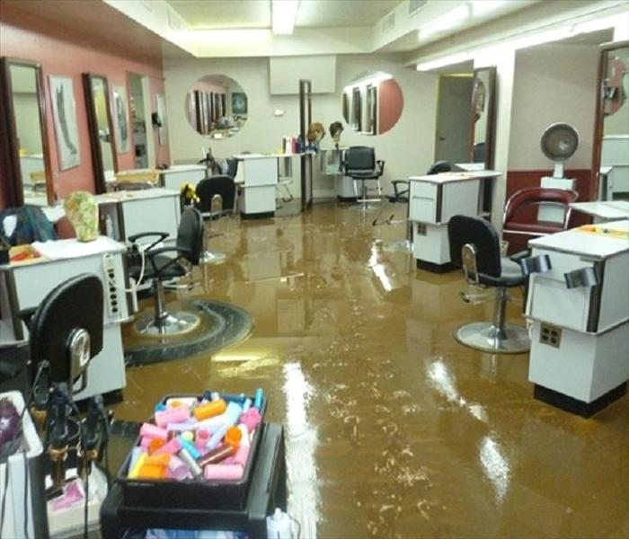 Beauty Shop Flood in Kensington  Before