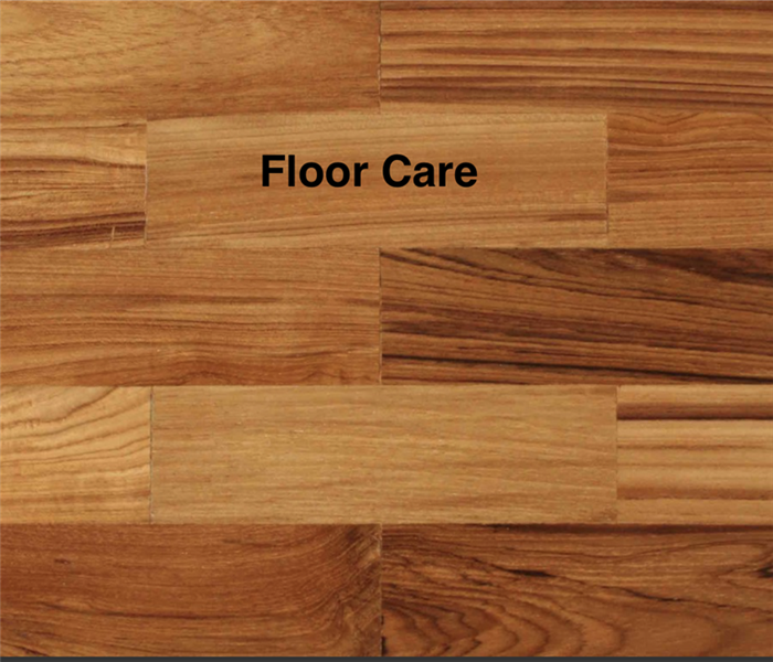 "A picture of wooden floor and wording that says ""floor care"""